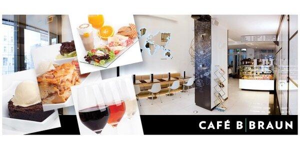 149 Kč za cokoli z nabídky úchvatné kavárny Café B. Braun v hodnotě 300 Kč!