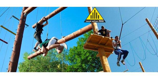 Adrenalinový program pro páry v Lanovém centru