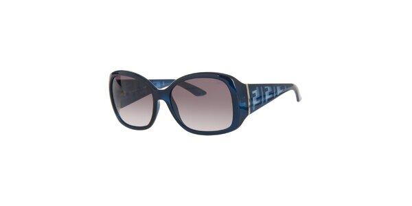 Dámské modré sluneční retro brýle Fendi