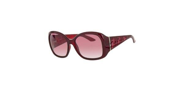 Dámské vínově červené sluneční retro brýle Fendi