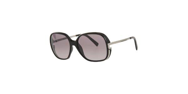 Dámské černé sluneční brýle s kovovými stranicemi Fendi