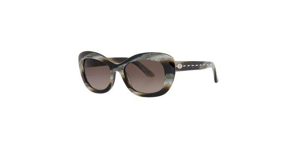 Dámské hnědo-žíhané sluneční brýle Fendi