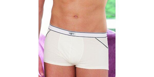 Pánské bílé boxerky Agio