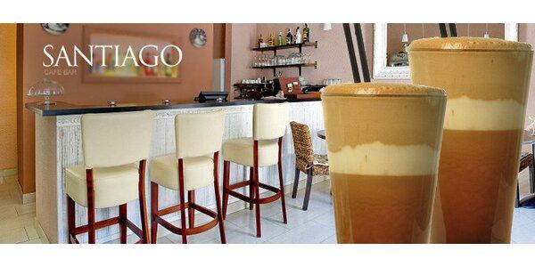 Ledově svěží frapé pro dva v Santiago Cafe Baru