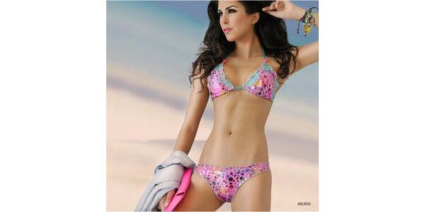 Dámské růžovo-tyrkysové bikiny Amelia Botero