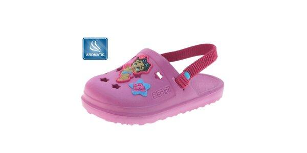 Dětské růžové gumové pantofle Beppi