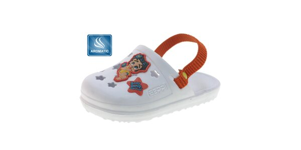 Dětské bílé gumové pantofle Beppi