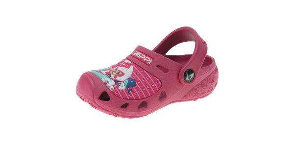 Dětské růžové pantofle Beppi s obrázkem