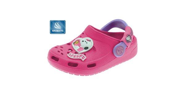 Dětské růžové pantofle Beppi s vůní