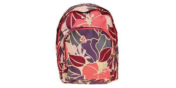 Dámský batoh s květinovým vzorem Roxy