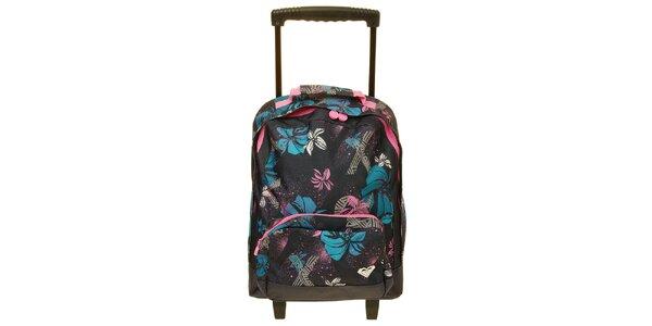 Dámská černá vzorovaná taška na kolečkách Roxy