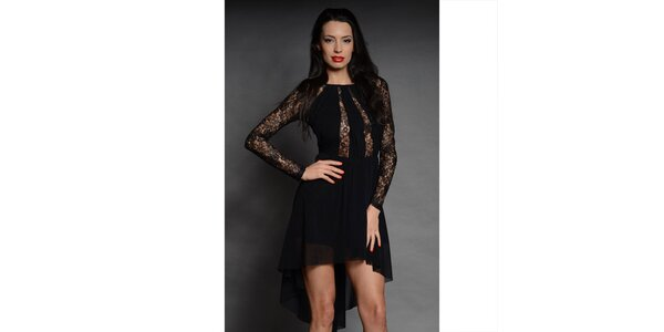 Dámské černé krajkové šaty Oriana