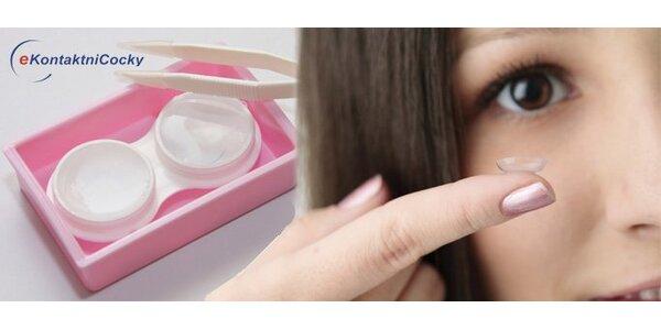 249 Kč za kontaktní čočky, roztok a pouzdro. Včetně měření zraku a aplikace