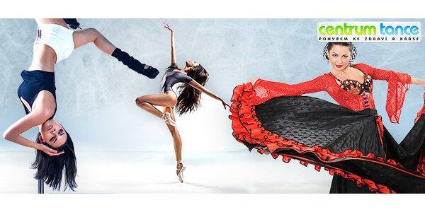 Libovolné lekce v Centru Tance s letní otevřenou kartou