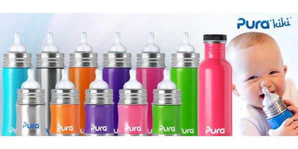 Nerezové kojenecké lahve Pura Kiki