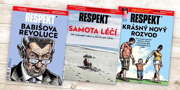 Půlroční nebo roční předplatné týdeníku Respekt