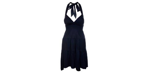 Dámské inkoustově modré šaty Guess s volánovou sukní