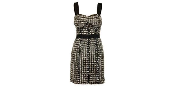 Dámské černo-bílé šaty Guess
