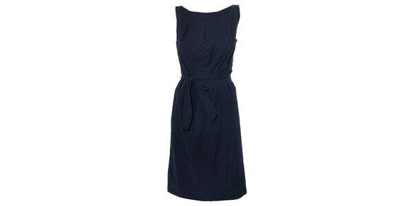 Dámské tmavě modré madeirové šaty Pietro Filipi