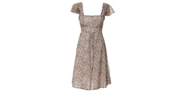 Dámské hnědobílé šaty Pietro Filipi