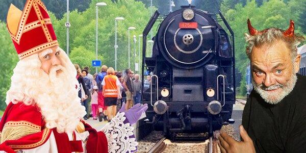 Jízda parní lokomotivou a mikulášský program