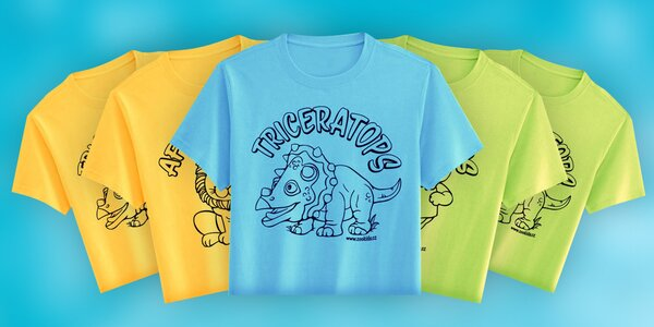 Vybarvovací tričko pro děti včetně fixek