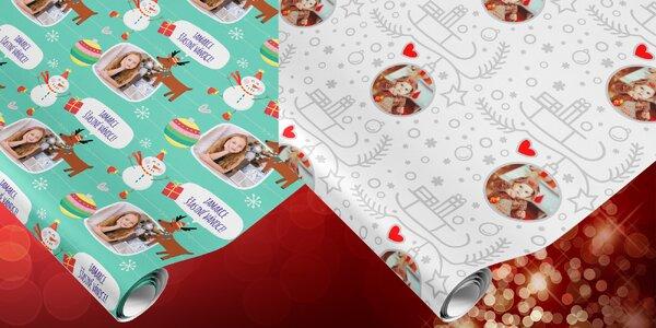 Balicí papír s vlastní fotkou - Dětské Vánoce