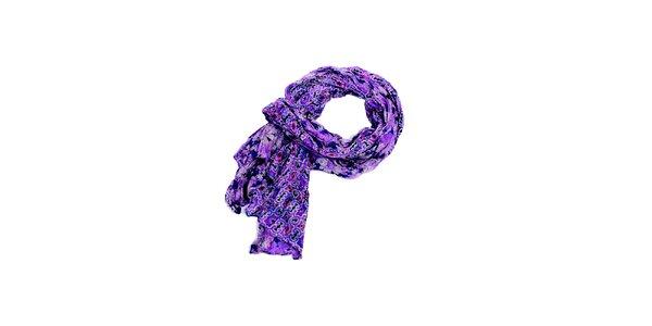 Dámský fialový šátek Fraas