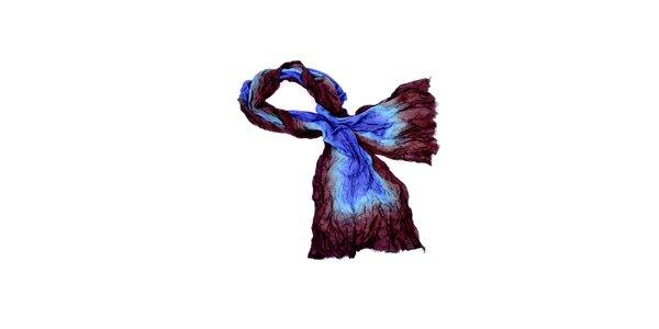 Dámský hnědo-modrý šátek Fraas
