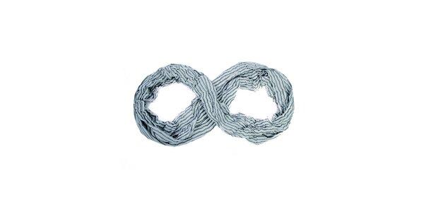 Dámský šedo-krémový kruhový šátek Fraas