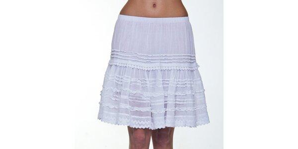 Dámská bílá krajková sukně Peace&Love