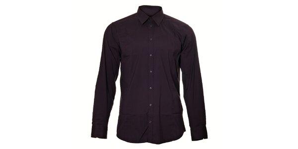 Pánská tmavě fialová košile Pietro Filipi