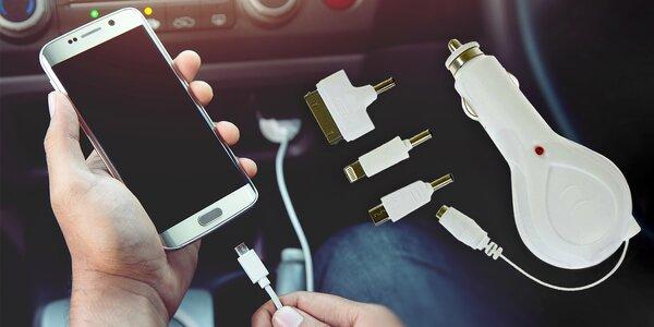 Autonabíječka s adaptéry pro iPad, iPhone i mikroUSB