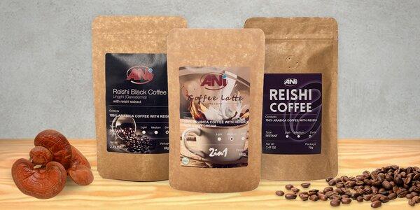 Zdravá káva nebo čokoláda s houbou Reishi