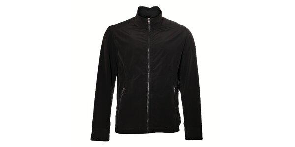 Pánská černá elegantní bunda Pietro Filipi