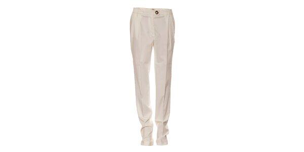 Dámské krémové kalhoty Pietro Filipy s puky