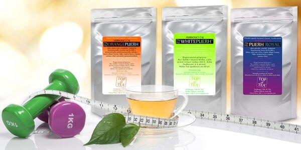 Detoxikační čaje Pu-Erh v různých variantách