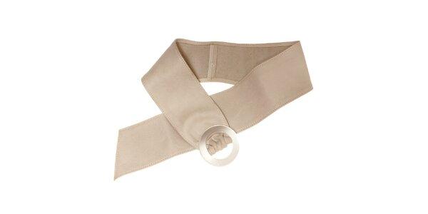Dámský bílý kožený pásek Pietro Filipi