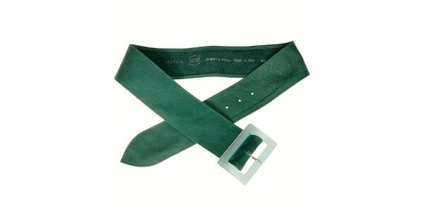 Dámský tyrksový kožený pásek Pietro Filipi s hranatou sponou
