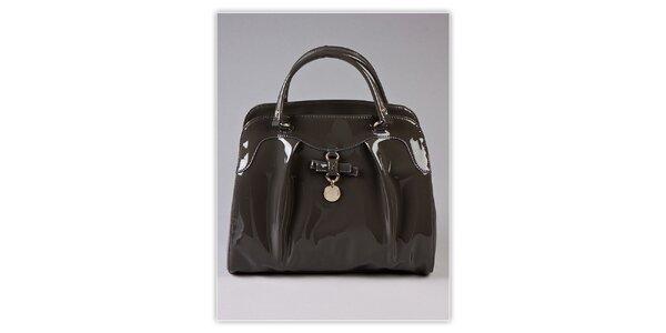Dámská šedá lakovaná kabelka s visačkou Ferré Milano