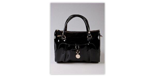 Dámská černá lakovaná kabelka s odnímatelným popruhem Ferré Milano