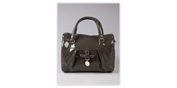 Dámská šedá lakovaná kabelka s odnímatelným popruhem Ferré Milano