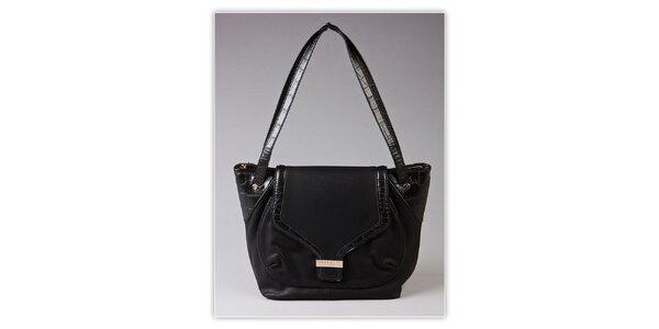 Dámská černá kabelka Ferré Milano s kroko motivem