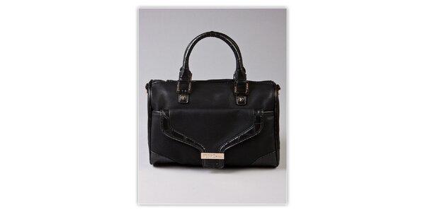 Dámská černá kufříková kabelka Ferré Milano s kroko motivem