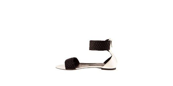 Dámské černo-bílé sandály Sandalo