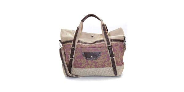 Dámská slézově fialová kabelka s popruhy Sandalo