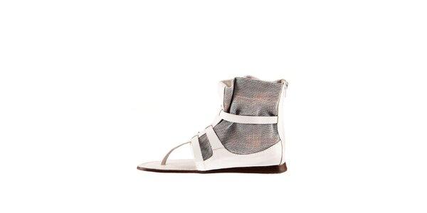 Dámské bílé kožené sandály Sandalo