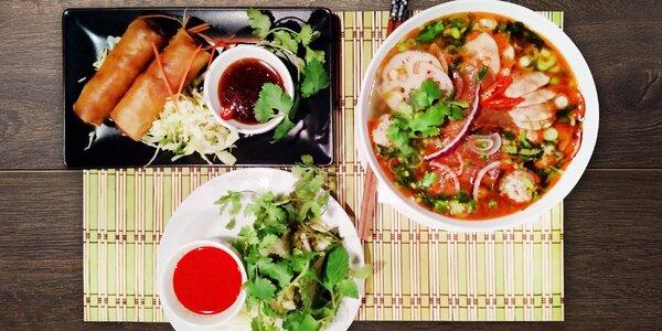 Asijské menu pro 1 či 2 s výběrem hlavního jídla