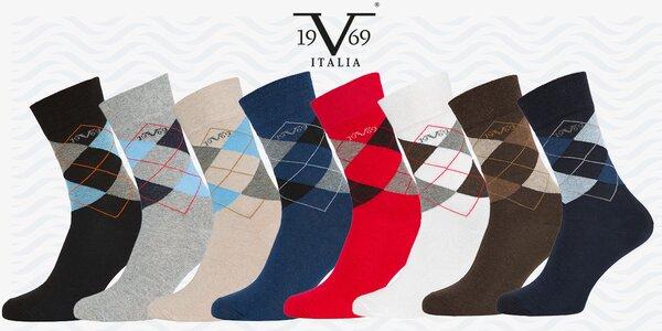 Balení 5 párů business ponožek 19V69 Italia
