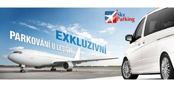 VIP parking v garážích u letiště Václava Havla v Praze